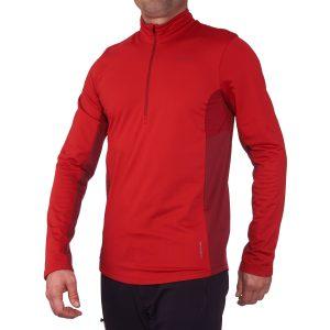 Roupas de frio primeira camada, blusa segunda pele masculina vermelha