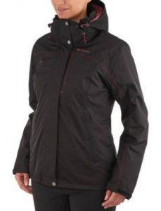 Roupas de frio: terceira camada jaqueta impermeável feminina preta