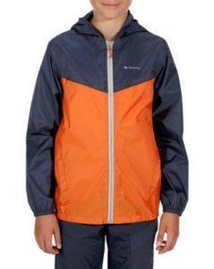 Roupas de frio: terceira camada jaqueta impermeável infantil marinho e laranja