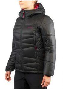roupas de frio: segunda camada jaqueta de penas feminina preta