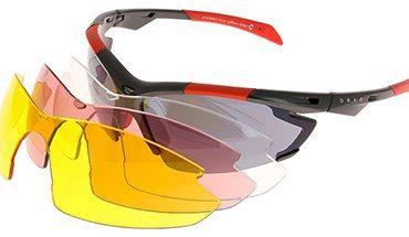 óculos de ciclismo com as lentes das 4 categorias