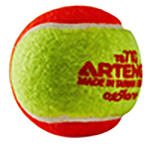 Bola de Tênis de Feltro com ponto vermelho, ideal para jogadores iniciantes